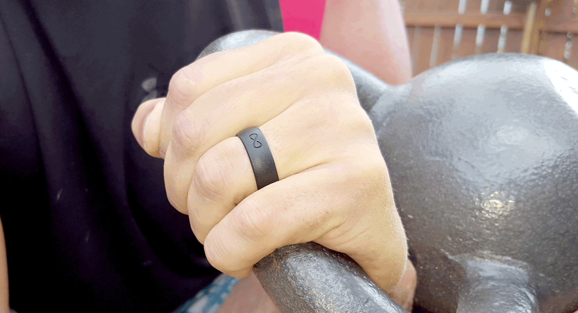 online core mens silicone silicine ring active bands for fused rings men black wedding